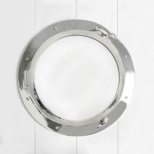 Porthole Mirror Chrome (Silver)