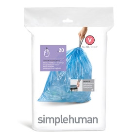 Simplehuman Pack Of 20 V 46L Bin Liners