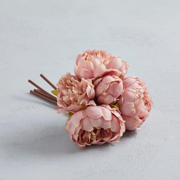 Artificial Peony Pink bundle 28cm Pink