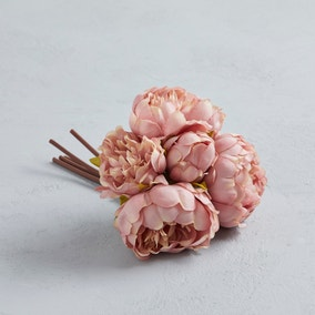Artificial Peony Pink bundle 28cm