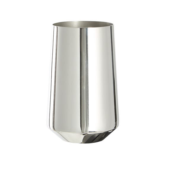 5A Fifth Avenue Chrome Plated Tumbler Silver