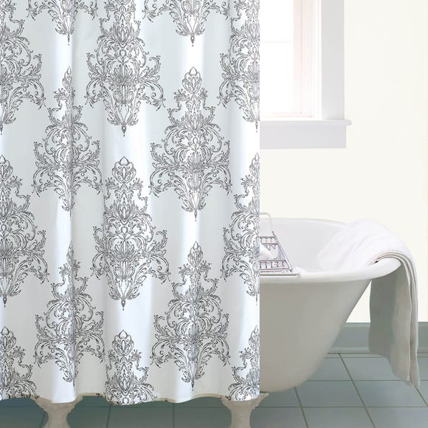 Versailles White Shower Curtain White