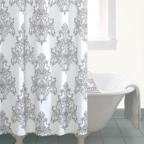 Versailles White Shower Curtain