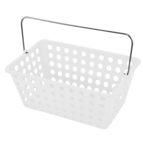 Essentials Frosted White Storage Basket