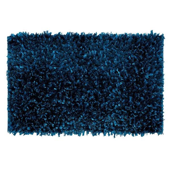 Textured Teal Bath Mat Teal (Blue)