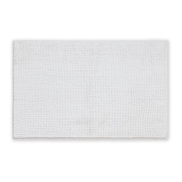 Elements Mini Bobble White Bath Mat White