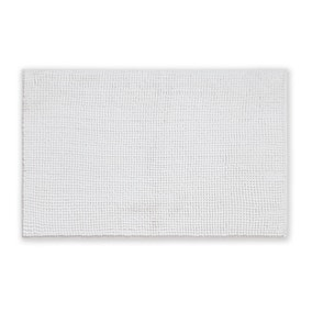 Elements Mini Bobble White Bath Mat