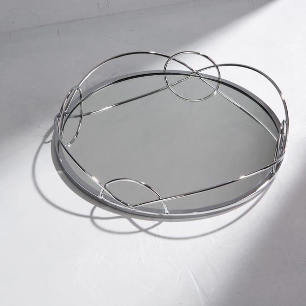 Dorma Silver Mirrored Tray Silver