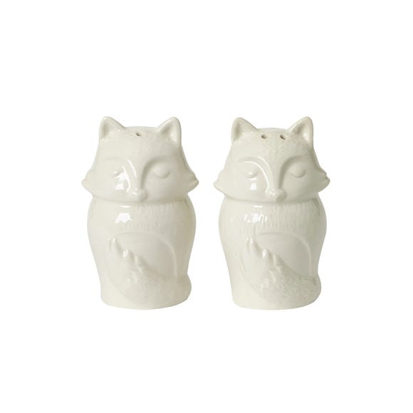 Fox Salt and Pepper Set Natural