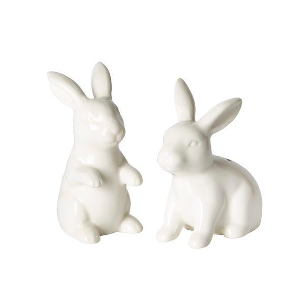 Rabbits Salt and Pepper Set Cream