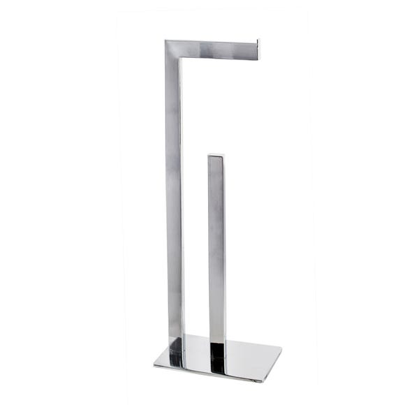 5A Fifth Avenue Chrome Plated Free Standing Toilet Roll Butler Silver