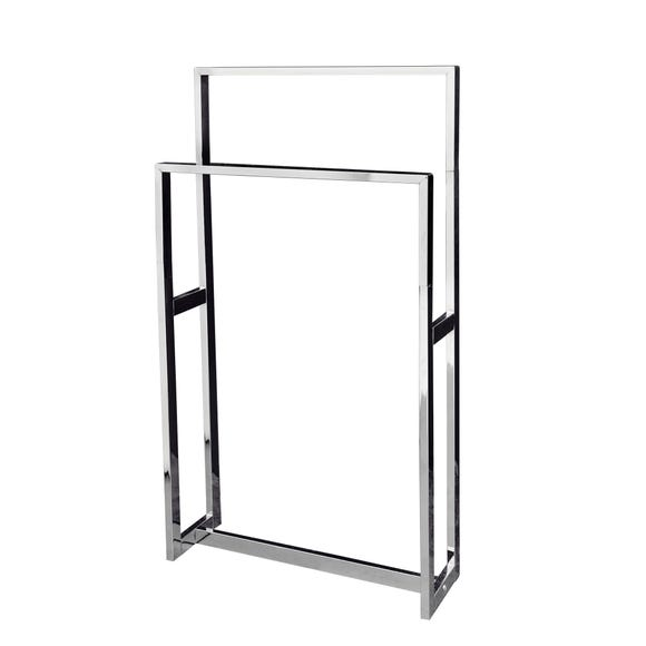 5A Fifth Avenue Chrome Plated Free Standing Towel Rail Chrome (Silver)