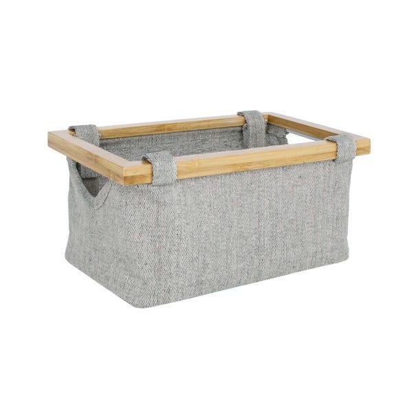 Elements Grey Bamboo Basket  undefined