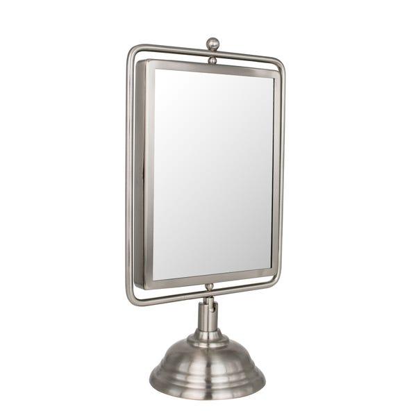 Keepers Lodge Satin Nickel Mirror Silver