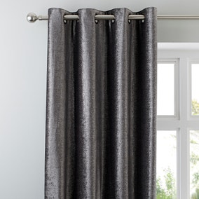5A Fifth Avenue Broadway Charcoal Eyelet Curtains