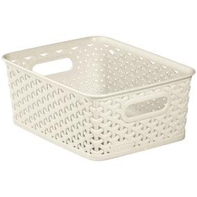 Curver 4L Vintage White Basket
