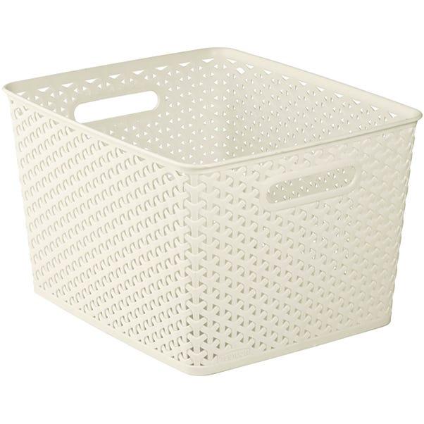 Curver 18L Vintage White Basket White