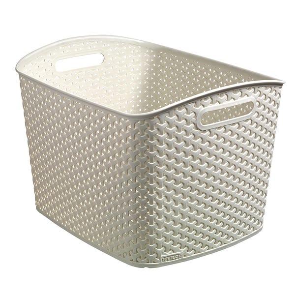 Curver 28L Vintage White Basket Vintage White