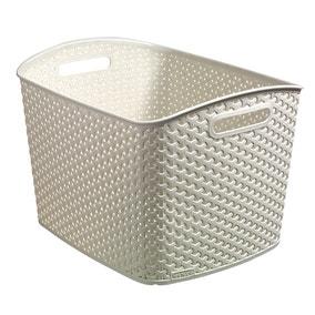Curver 28L Vintage White Basket