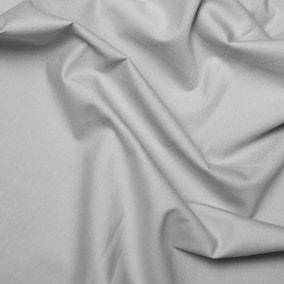 Light Grey Plain Cotton Poplin