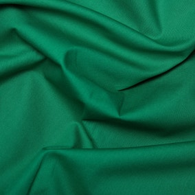 Emerald Plain Cotton Poplin