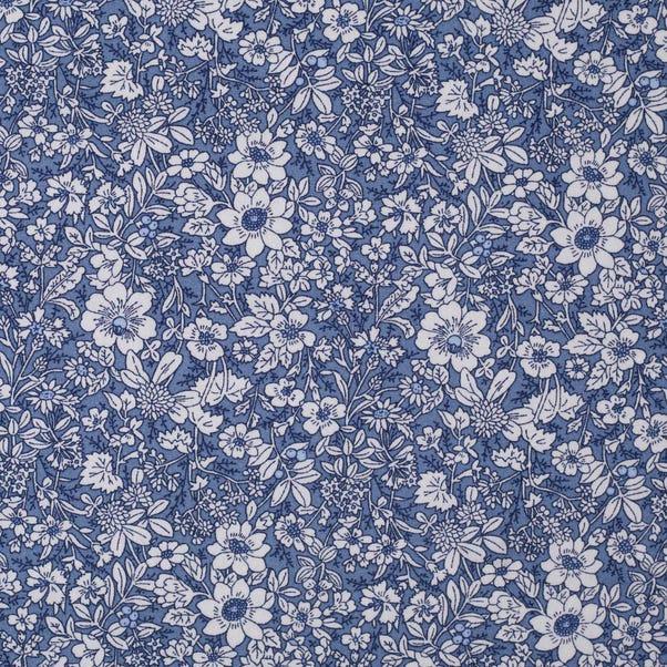 Rose & Hubble Delph Floral Cotton Poplin Blue