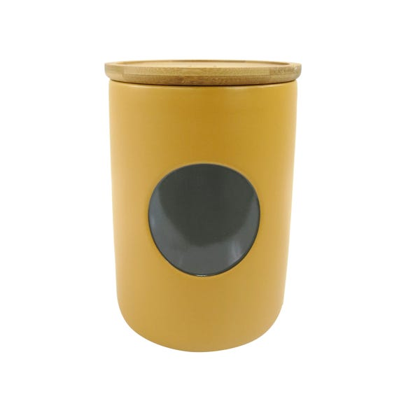 Elements Ochre Biscuit Canister Ochre (Yellow)