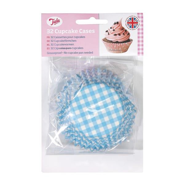 Tala Originals Blue Stripe Cupcake Cases Blue