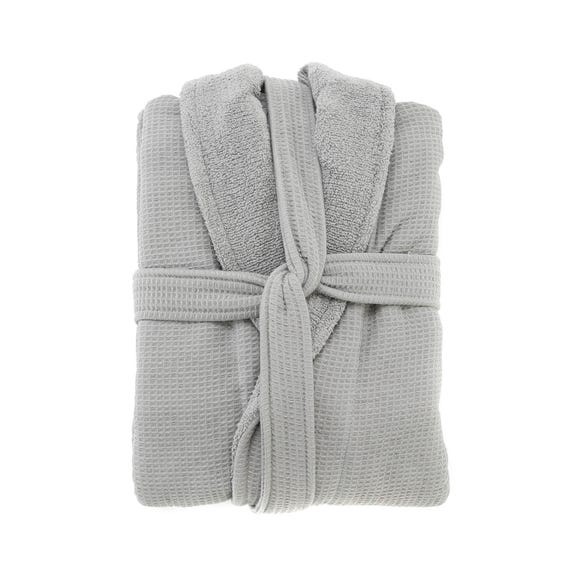 5A Fifth Avenue Grey Waffle Dressing Gown Grey undefined