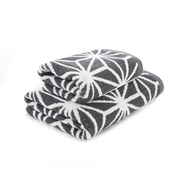 Charcoal Geo Towel Charcoal (Grey) undefined