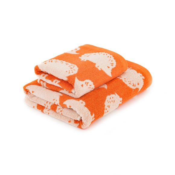 Orange Hedgehog Towel  undefined