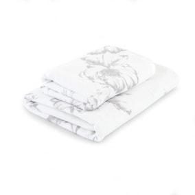 Maison Charcoal Floral Towel