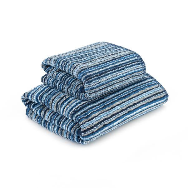 Blue Stripes Towel  undefined
