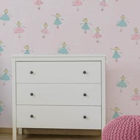 Fairies Pink Wallpaper
