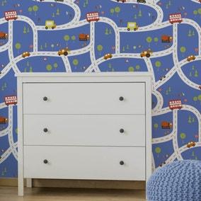 Transport Blue Wallpaper