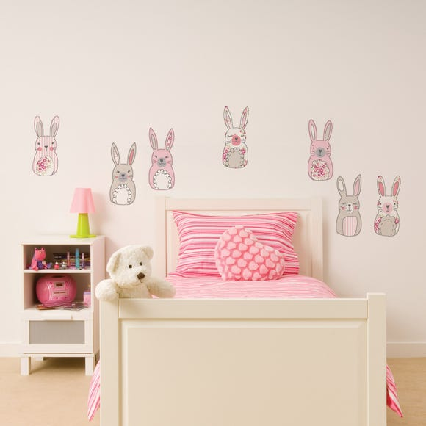 Katy Rabbit Wall Stickers Multi Coloured