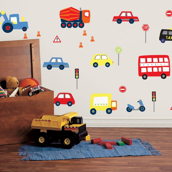 Transport Wall Stickers Multi Coloured