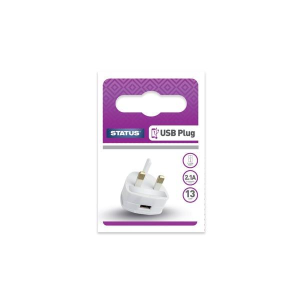 Status USB Charging Port Power Adaptor White