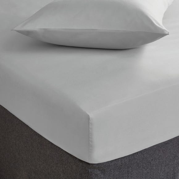 Fogarty Soft Touch Fitted Sheet Platinum undefined