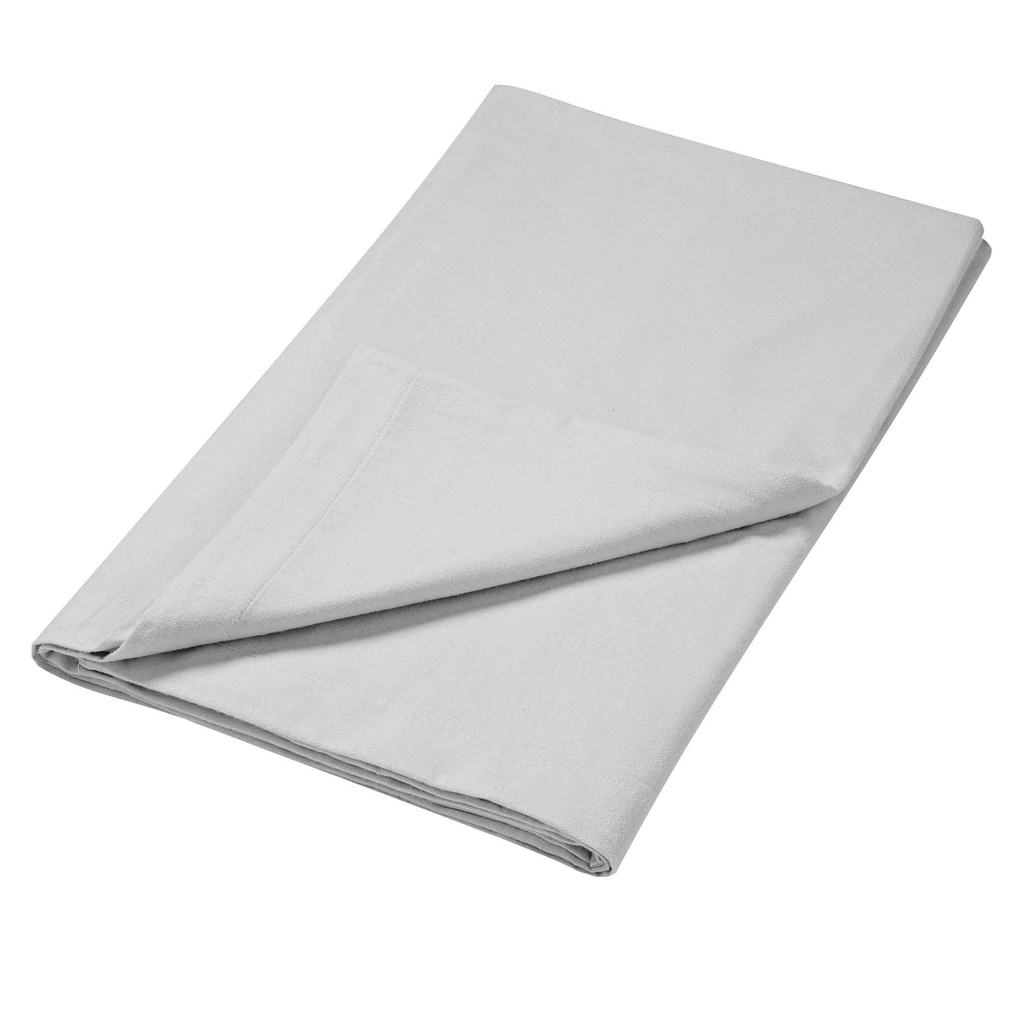 Photo of Luxury brushed cotton flat sheet dove -grey-