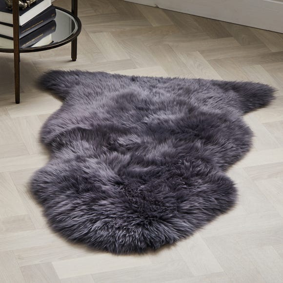 Single Pelt Sheepskin Rug Sheepskin Charcoal undefined