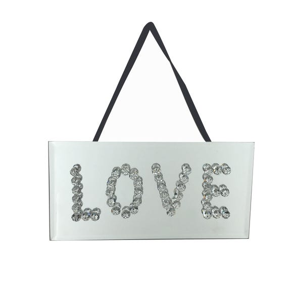 Bling Love Plaque Silver