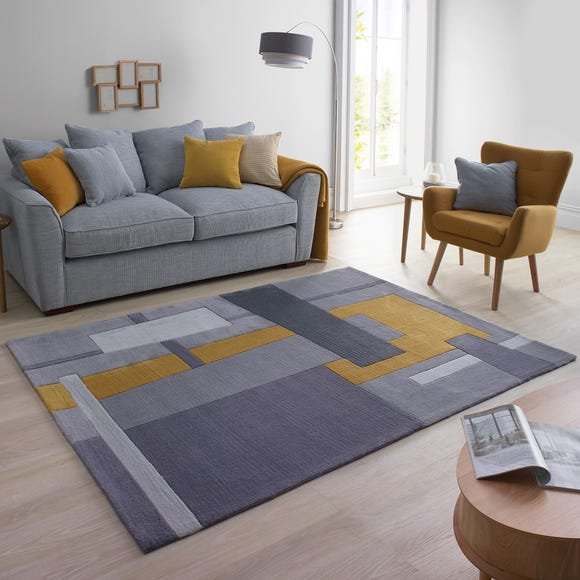Elements Farg Abstract Rug Elements Farg Grey undefined