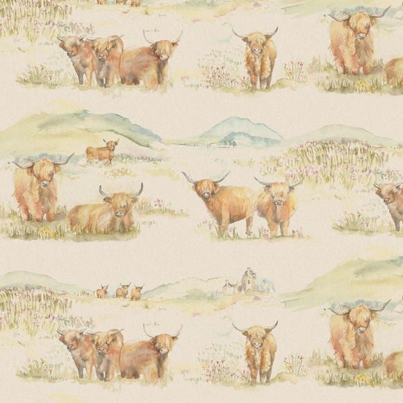 Highland Cattle PVC Natural