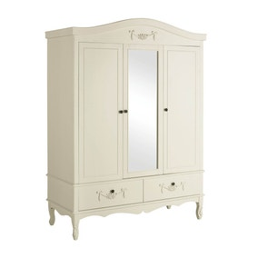 Toulouse Ivory Triple Wardrobe