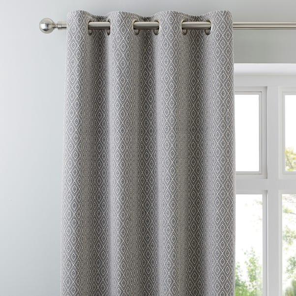 Elements Oslo Grey Eyelet Curtains  undefined