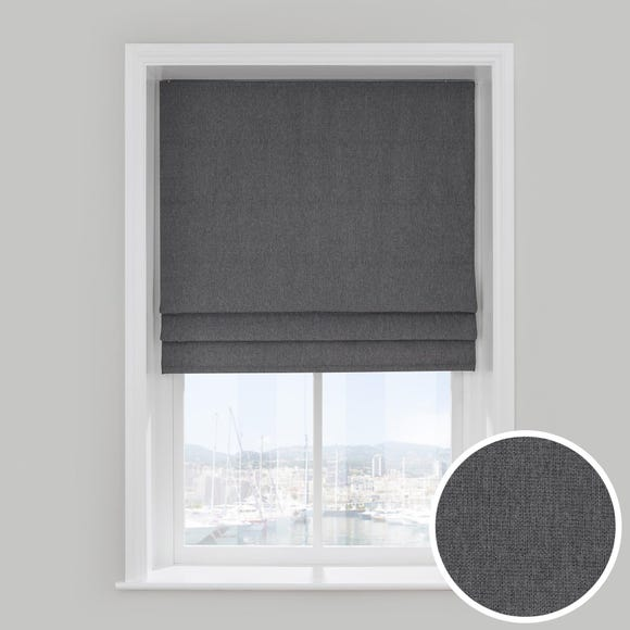 Barkweave Charcoal 5ft Roman Blind  undefined
