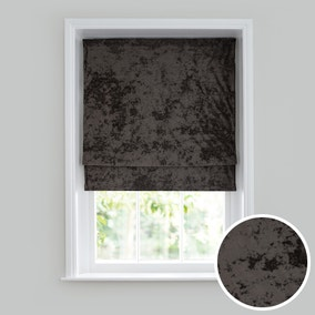 Crushed Velour Charcoal Roman Blind