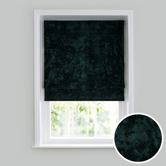 Crushed Velour Emerald Roman Blind  undefined