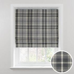Highland Check Dove Grey Blackout Roman Blind